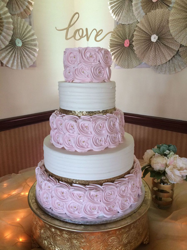 Baltimore, MD 5 tiered love wedding cake phillips fairy tale weddings