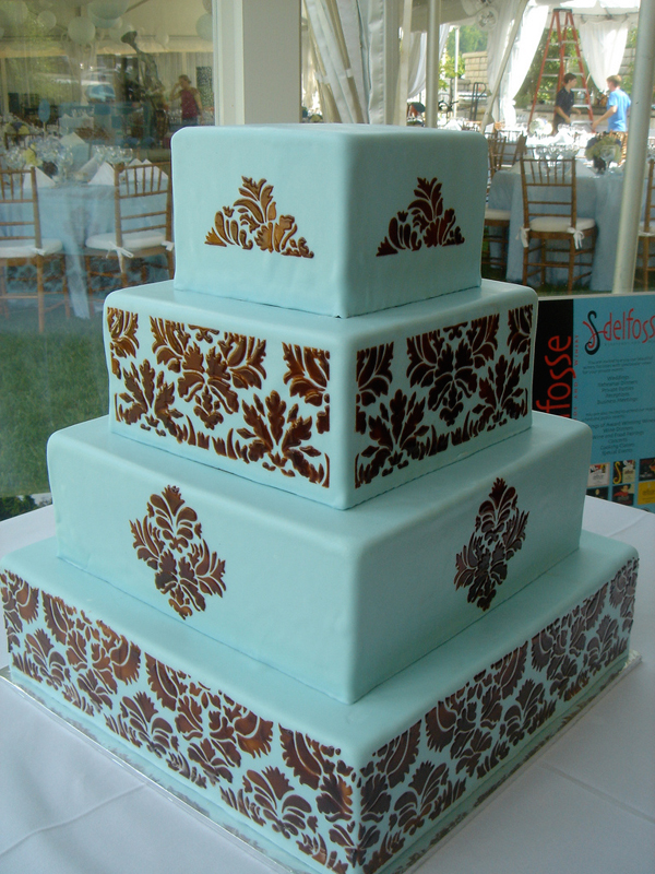 Baltimore, MD 4 tiered wedding cake design phillips fairy tale weddings