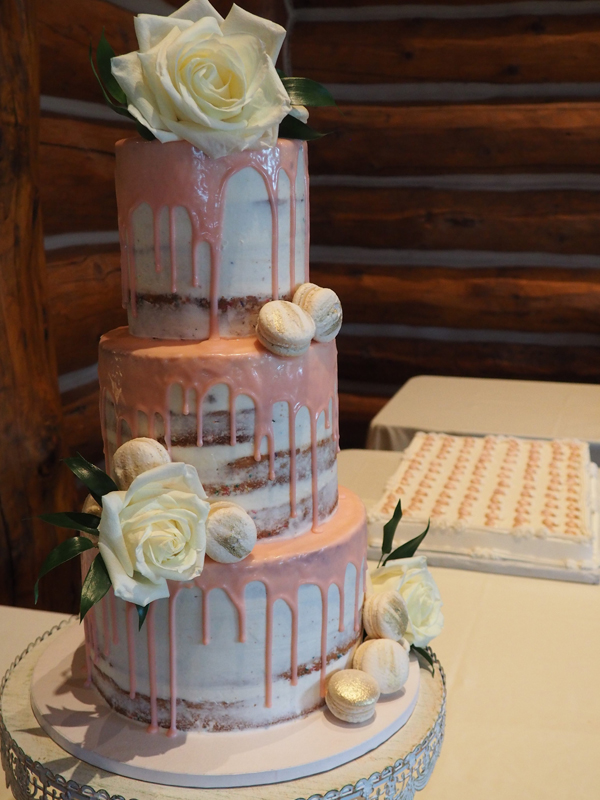 Baltimore, MD 3 tiered naked wedding cake phillips fairy tale weddings