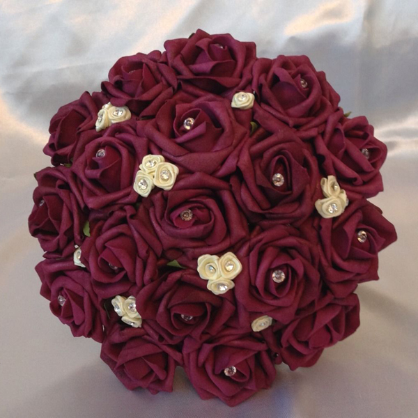 Baltimore, MD red rose brides bouquet phillips fairy tale weddings