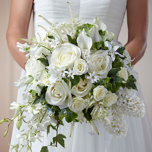 Baltimore, MD white rose bridal bouquet phillips fairy tale weddings