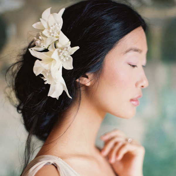 Baltimore, MD asian wedding hair style phillips fairy tale weddings