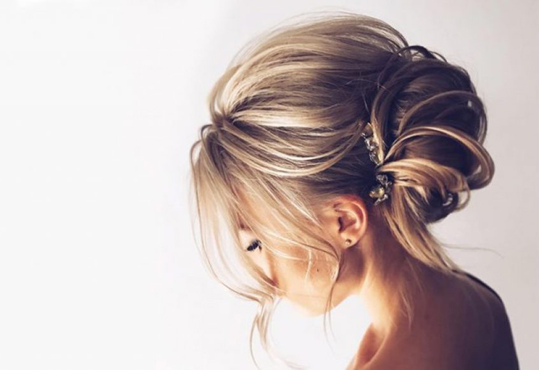 Baltimore, MD bride hair style wedding hair and makeup schedules stay on tim