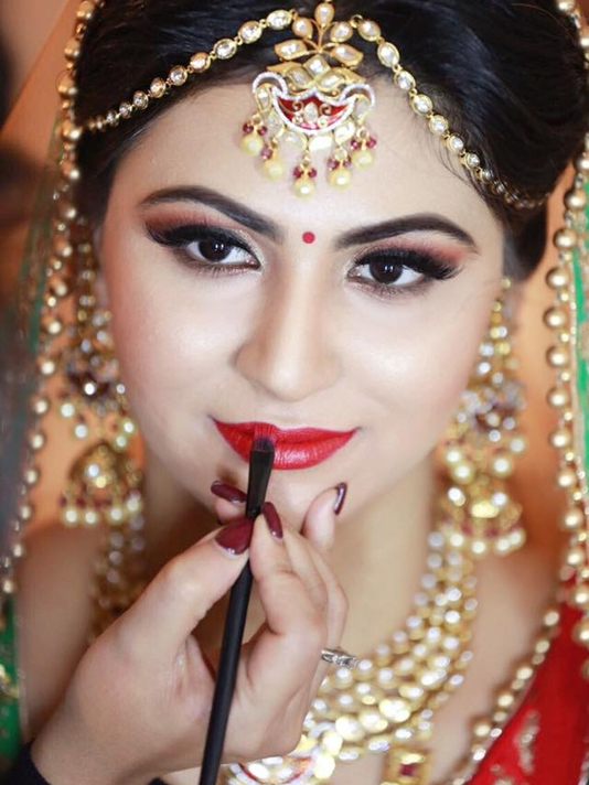 Baltimore, MD indian wedding makeup hair phillips fairy tale weddings
